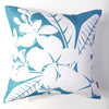 Plumeria - Aqua Pillow Cover