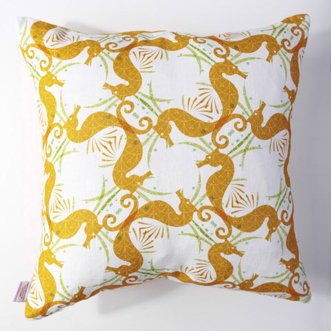 Seahorse - Amber Pillow Cover
