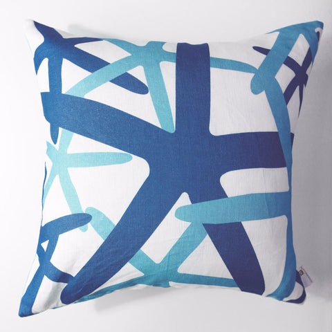 Starfish - Teal Pillow Cover