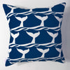 Whale of a Tail - Indigo Pillow Cover