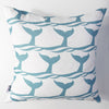 Whale of a Tail - Aqua Pillow Cover
