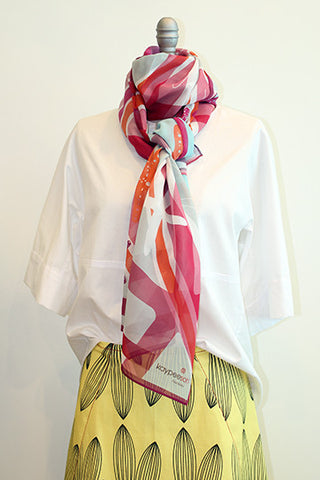 Starfish Honeysuckle 100% Silk Scarf