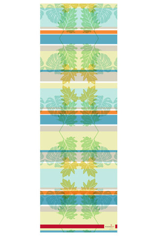 Monstera Aqua 100% Silk Scarf