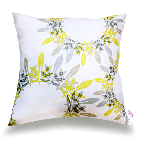 Fern Pillow Cover- Lemon
