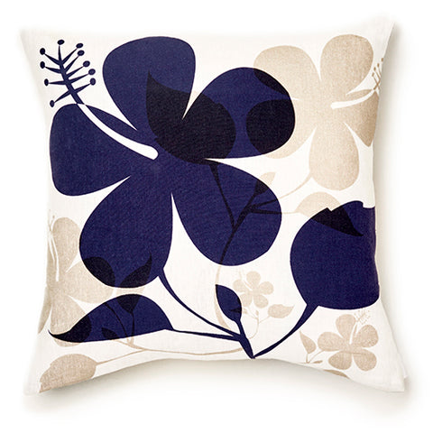 Hibiscus - Midnight Pillow Cover