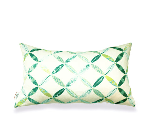 Surfs Up - Emerald/Lumbar Pillow Cover