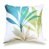 Ti Leaf Pillow Cover- Aqua
