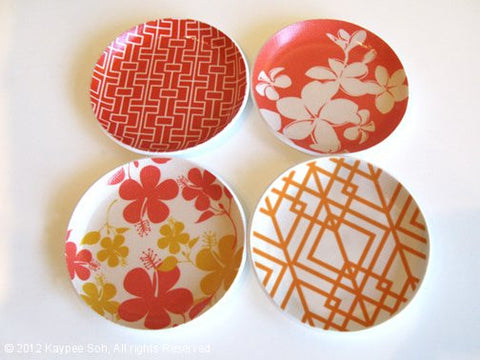 Botanical Coasters Set of 4 - Fire