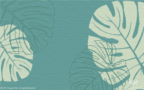 Monstera - Ocean Teal