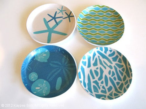 Sea Coasters Set/4 - Aqua