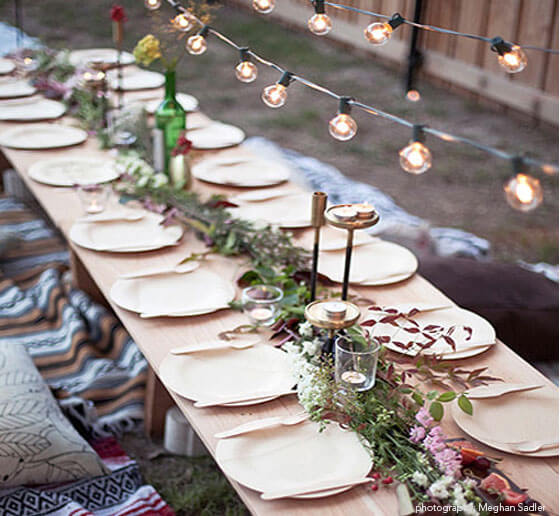 Compostable Plates: Wedding Planning for the Eco-Friendly Couple