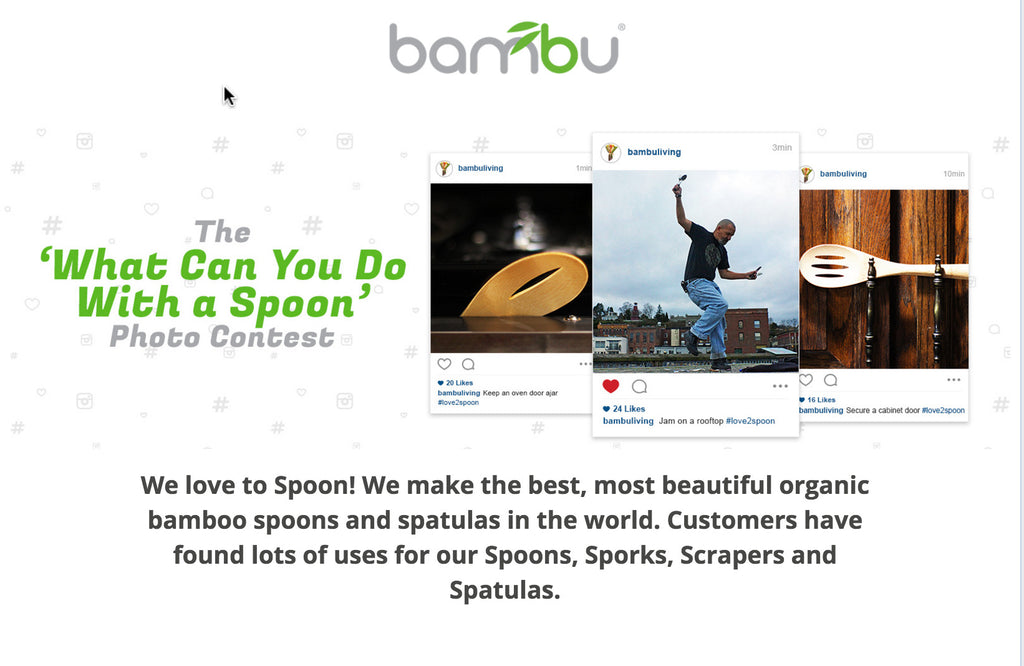 bambu 'Love To Spoon' Instagram Photo Contest is On!