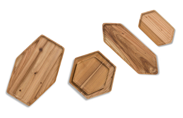 cedar wood trays and serving boards