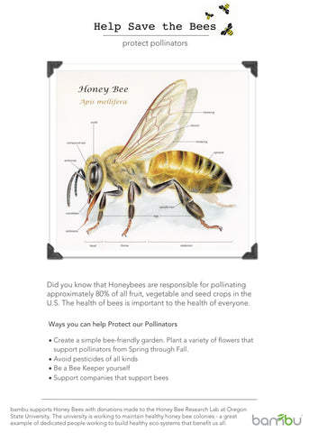 Help Save the Bee's bambu poster