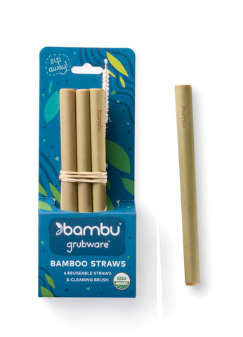 Short Reusable Bamboo Straws