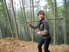 female bamboo farmer
