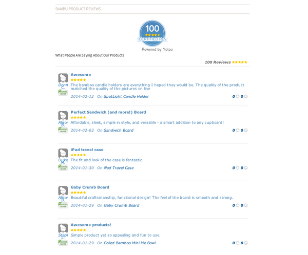 bambu Customer Reviews