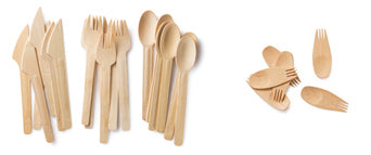 bambu Veneerware utensils