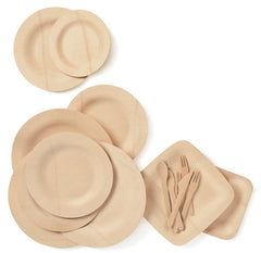 Veneerware bamboo plates by bambu