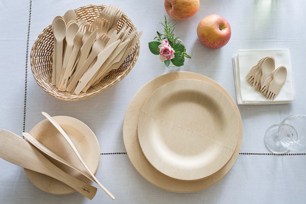Veneerware disposable bamboo plates