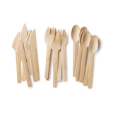 Veneerware bamboo utensils