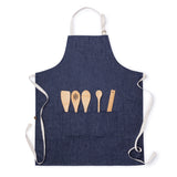 Hemp Denim Apron with bamboo tools