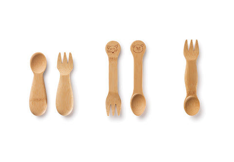 bambu Kids Organic Bamboo Eating Utensils