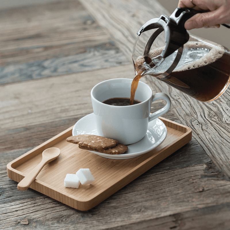 Serving Tray, Rectangle and tea pouring - bambu