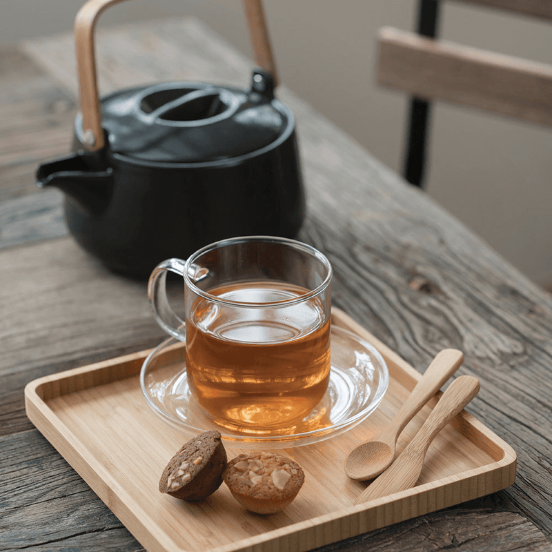 Tea Spoon and spreader with tea and muffin
