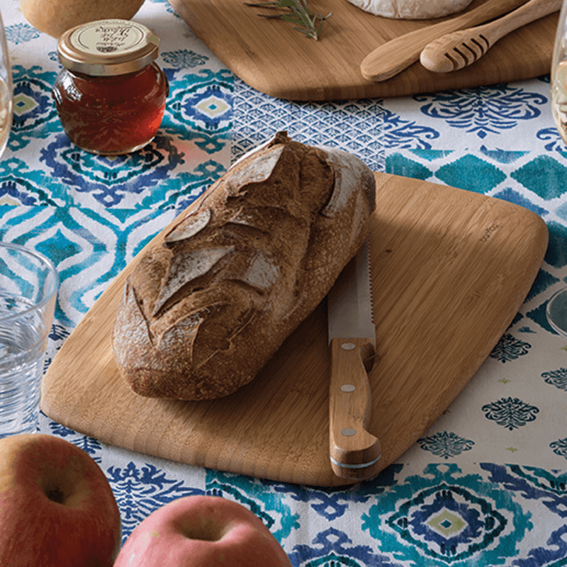 Classic Cutting & Serving Boards with bread - bambu
