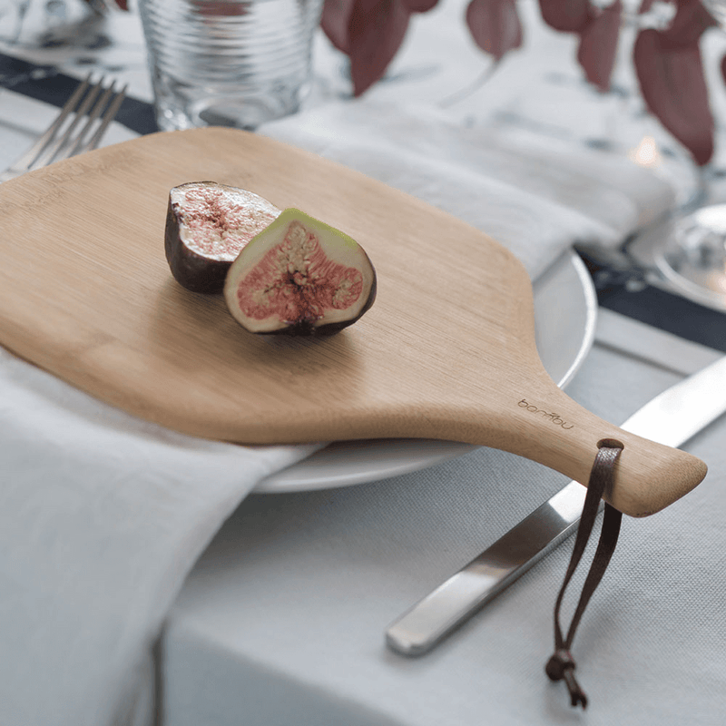 Mini Artisan Cutting & Serving Board with fig - bambu