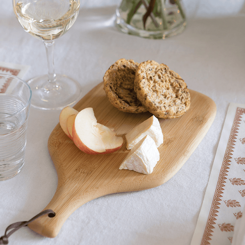 Mini Artisan Cutting & Serving Board with cheese and crackers - bambu
