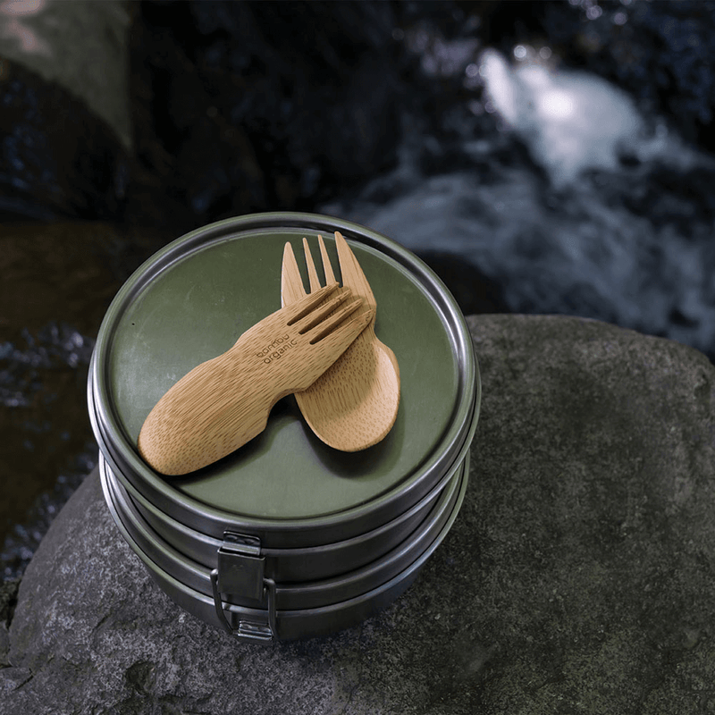 Bamboo Sporks with lunchbox