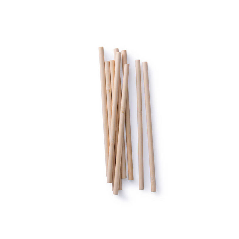Disposable Bamboo Straws. Box of 24