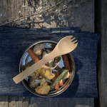 bamboo large spork with roasted veggies