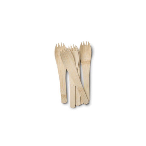 Veneerware® Bamboo Spork with Handle, Bulk Case
