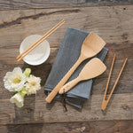 Small Tongs with Wok Spatula and Rice Paddle