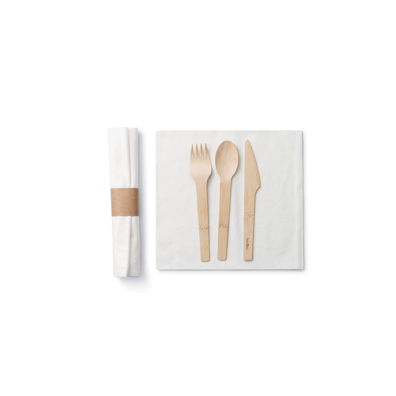Pre-Rolled Cutlery Sets, case of 50 sets
