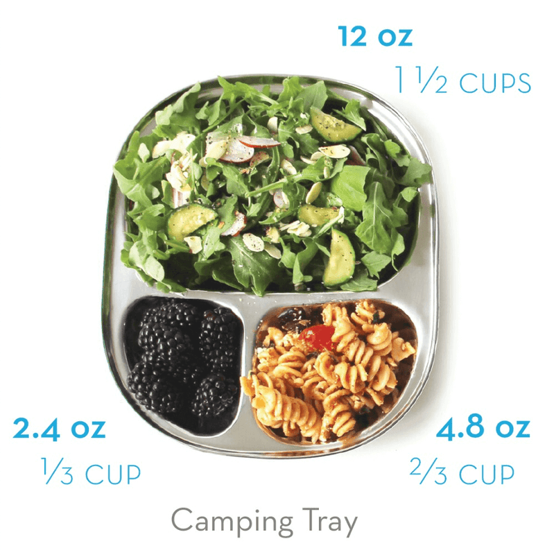 Eco Lunchbox Camping Tray portion sizes