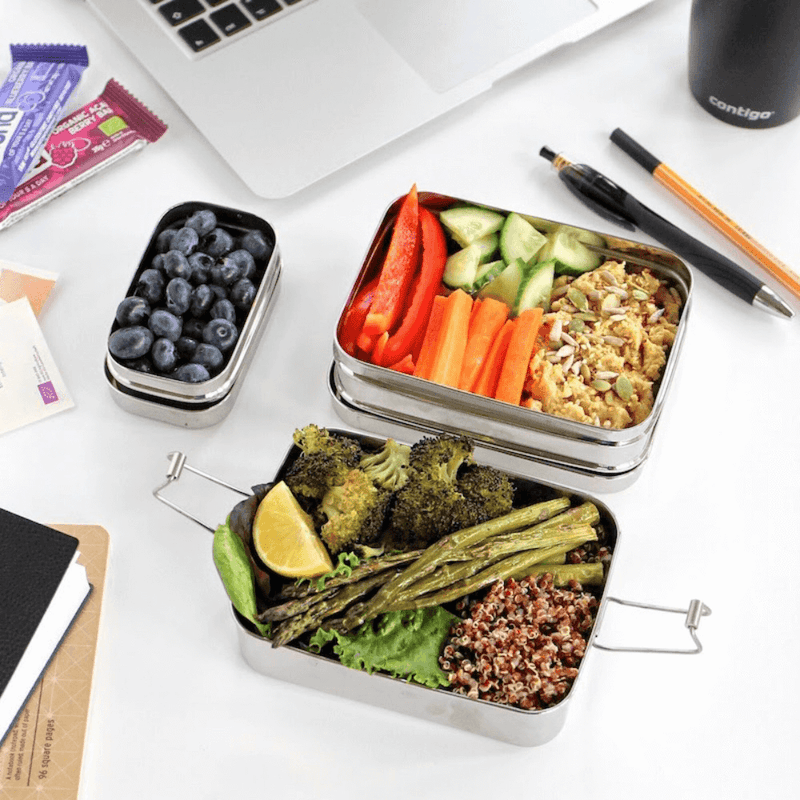 Eco Lunchbox Three-in-One Classic for your desk lunch