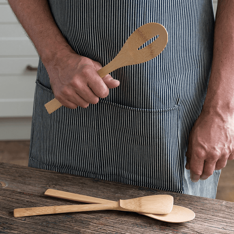 'Give It a Rest' Spatula and slotted spoon