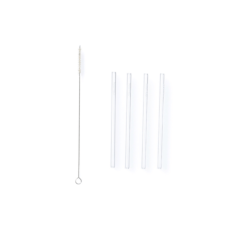 glass straw set of 4 cocktail straws