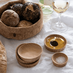 Condiment Cups, Small (set of 4) with large condiment cups and cork bowl - bambu