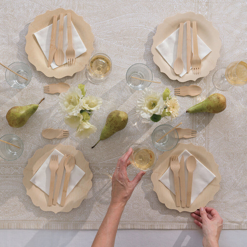 Veneerware® Fancy Bamboo Plates