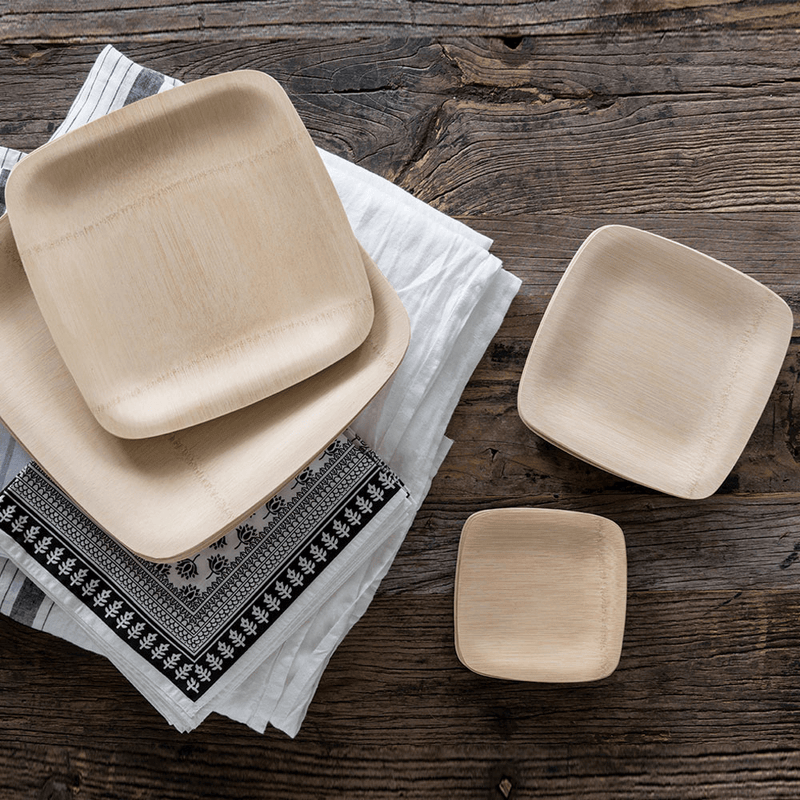 "Veneerware® 3.5"" Bamboo Tasting Plates and more sizes"