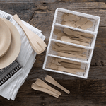 Veneerware® Bamboo Knives with all utensils