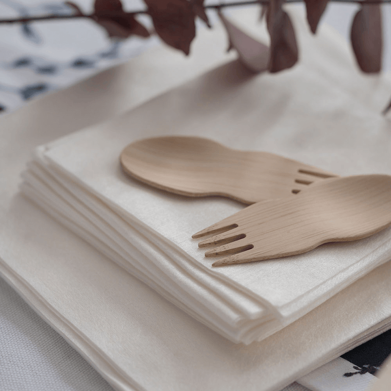 Veneerware® Bamboo Sporks for buffet