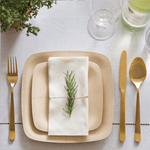Veneerware® Square Bamboo Plates for holiday dinner
