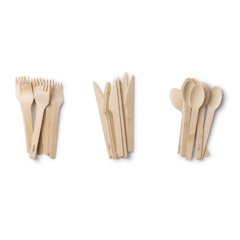 Veneerware® Bamboo Knife, Fork, Spoon Sets for party