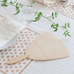 Veneerware® Bamboo Fan on table